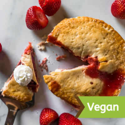 Natural Vegan Strawberry Rhubarb 6 Pie